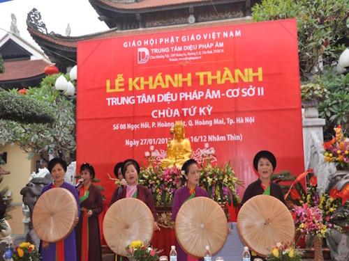 Khánh thành Trung tâm Diệu Pháp Âm Cơ Sở 2, chùa Tứ Kỳ, Hà Nội